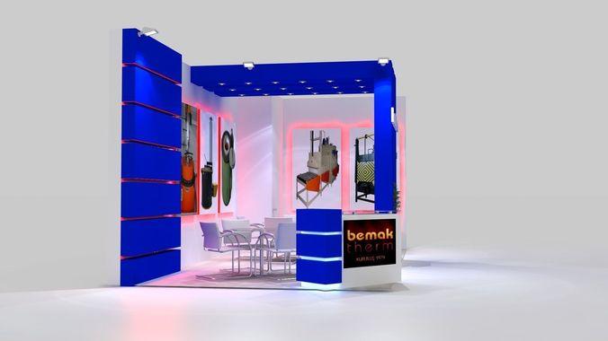 bemaktherm exhibition stand design 3d model max 1