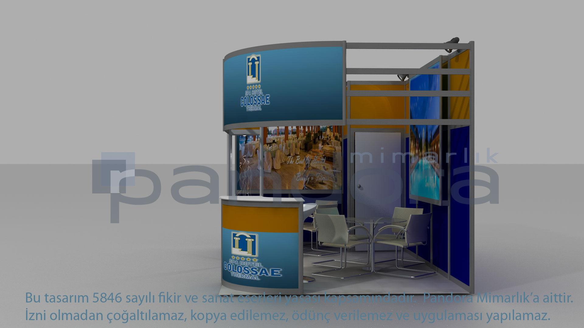 Colosae-Hotel exhibition stand design   3D model