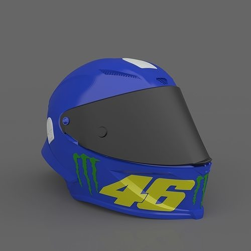 Valentino Rossi Helmet MOTOGP Ready to Print STL File
