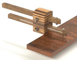 3d printable model woodworking marking gauge