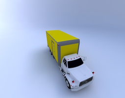 Moving Truck 93 with texture 3D model