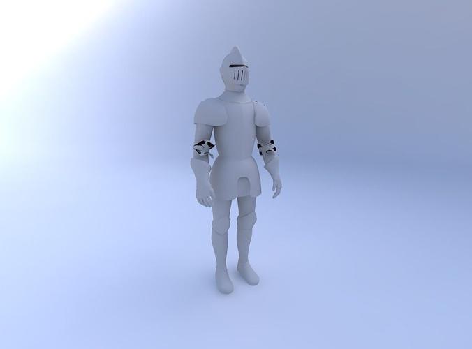 knight-in-shining-armor 3d model obj mtl pdf 1