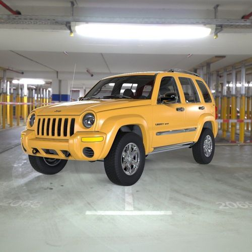 2002 Jeep Liberty Exterior: Jeep Liberty 2002 With Interior For 3ds And Obj