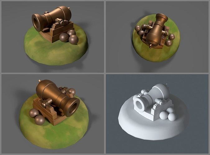 Simple game-ready Cannon