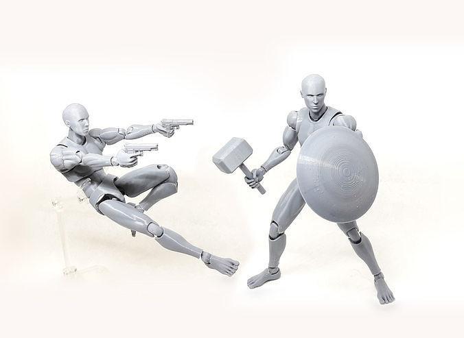 Mr figure V02 the 3D printed action figure