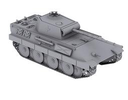 Tank Panther V 3D Model