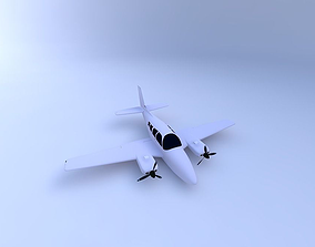 Baron Aircraft 3D model
