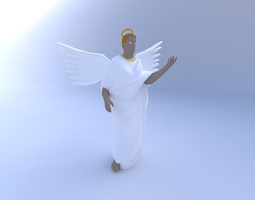 Angel 3D model female