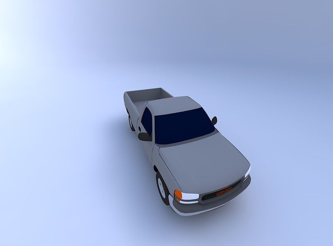 2000 gmc sierra sl pick-up 3d model obj mtl 1
