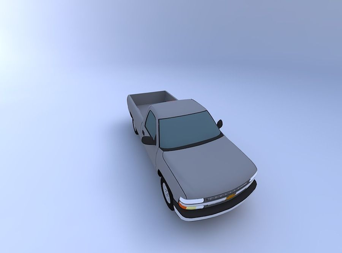2000 chevy silverado 3d model obj mtl 1