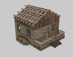 Abandoned House 3D asset