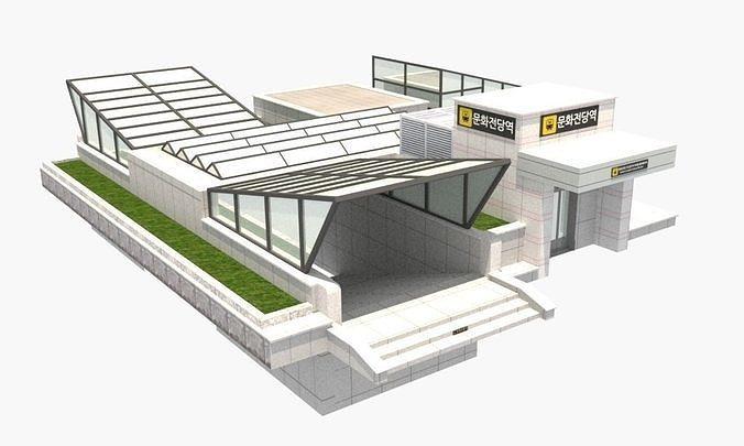The subway station of Munhwajeondang in Gwang-ju