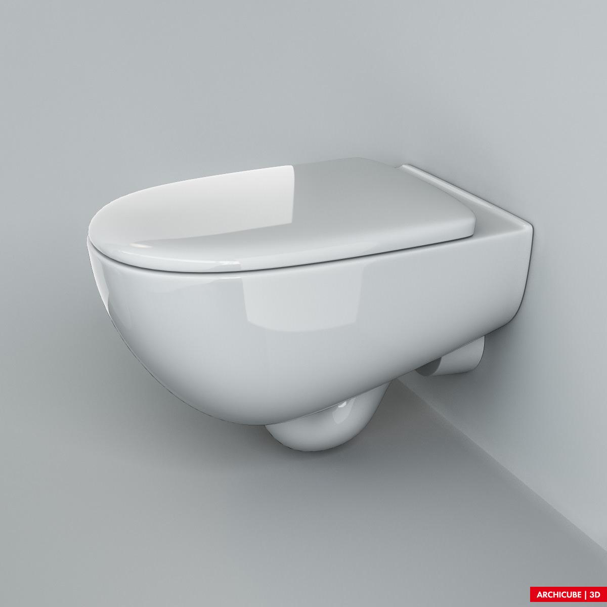 Toilet 07 3d model max obj fbx - Toilet model ...