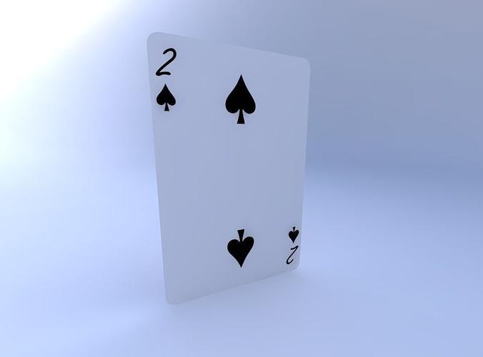 two of spades 3d model obj mtl 1