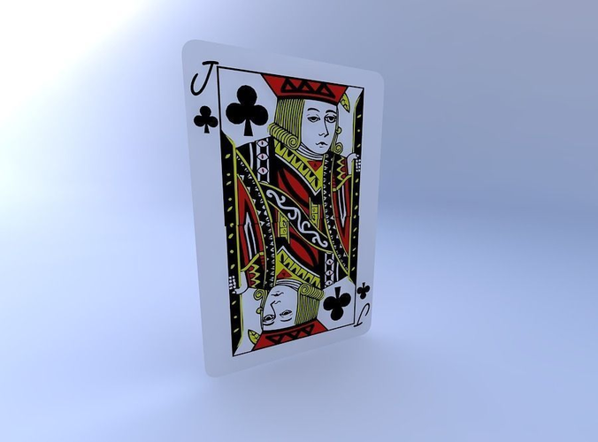 jack of clubs 3d model obj mtl 1