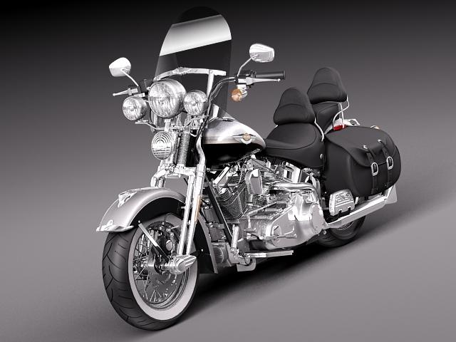 harley-davidson springer flsts heritage 2013 3d model max obj mtl 3ds fbx c4d lwo lw lws 1