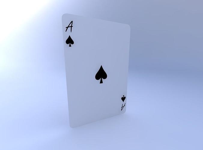 ace of spades 3d model obj mtl 1