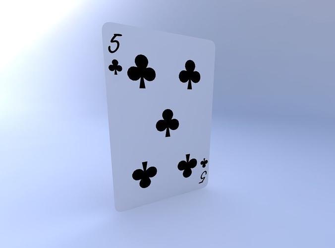 five of clubs 3d model obj mtl 1