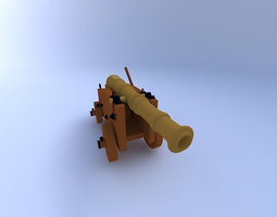 3d model cannon w textures3