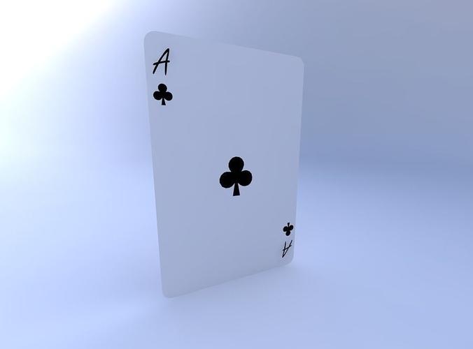 ace of clubs 3d model obj mtl 1