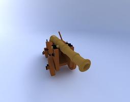 3d model cannon w textures2