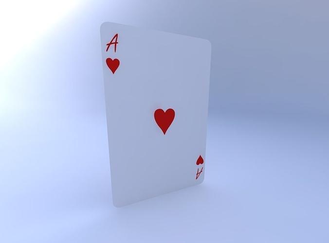 ace of hearts 3d model obj mtl 1