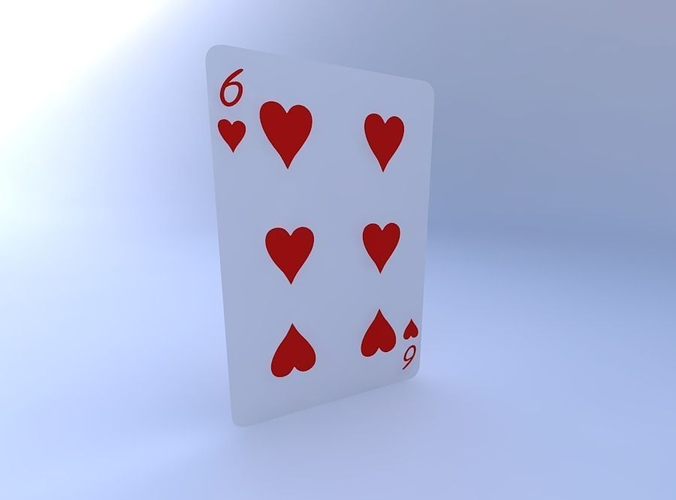 six of hearts 3d model obj mtl 1