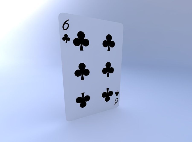 six of clubs 3d model obj mtl 1