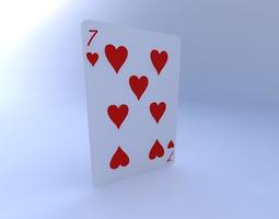 Seven of Hearts 3D model