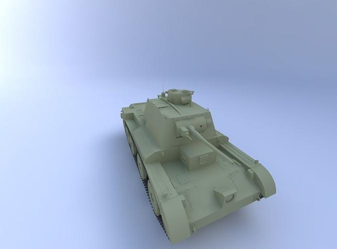 a13 mk iii (cruiser mark v) tank 3d model obj mtl 1