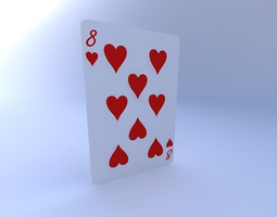 Eight of Hearts 3D model