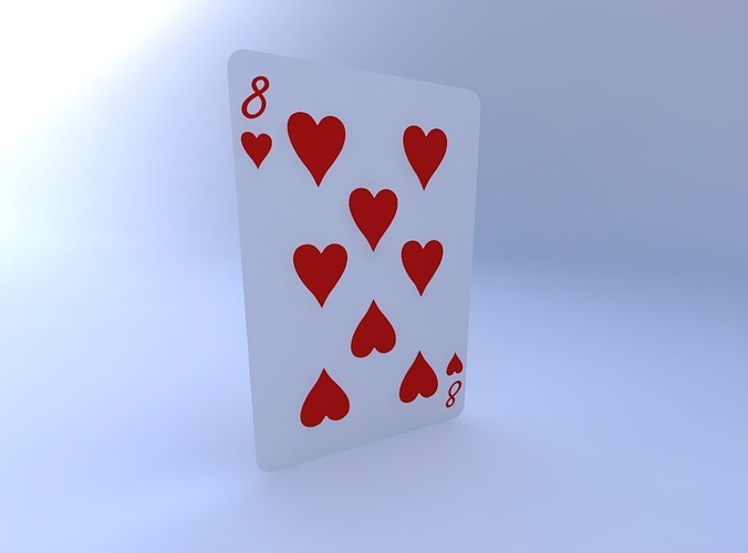 eight of hearts 3d model obj mtl 1
