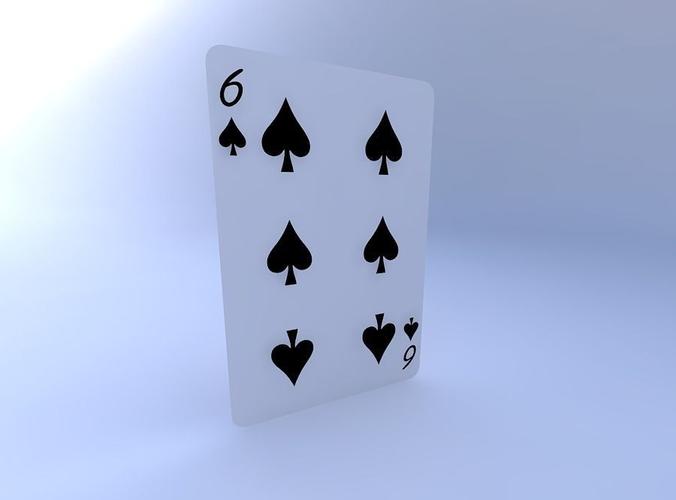 six of spades 3d model obj mtl 1