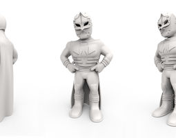 3D printable model Mexican Wrestler Mascarita Sagrada