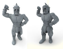 mexican wrestler el gladiator 3d print model
