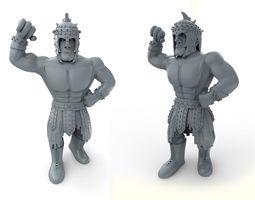 3d print model mexican wrestler el gladiator