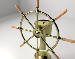 ships wheel 3d model 3ds fbx blend dae