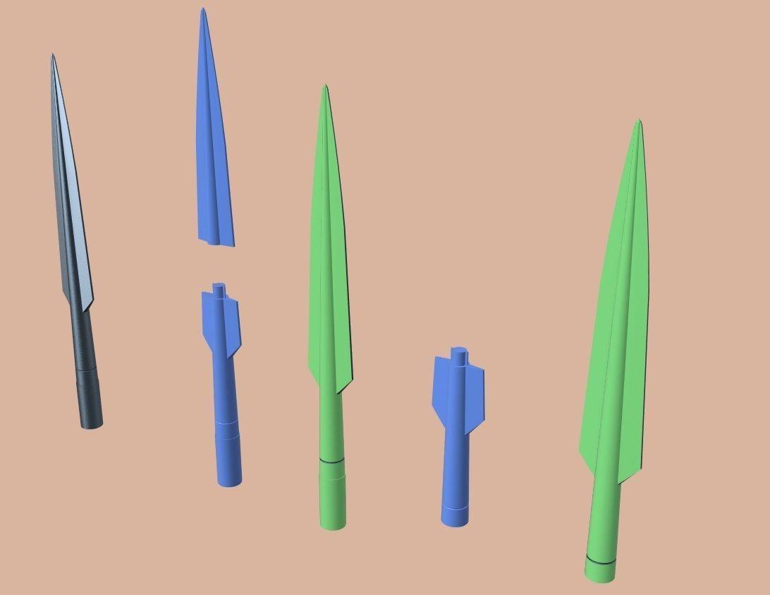 Beskar Spear tip from Mandalorian