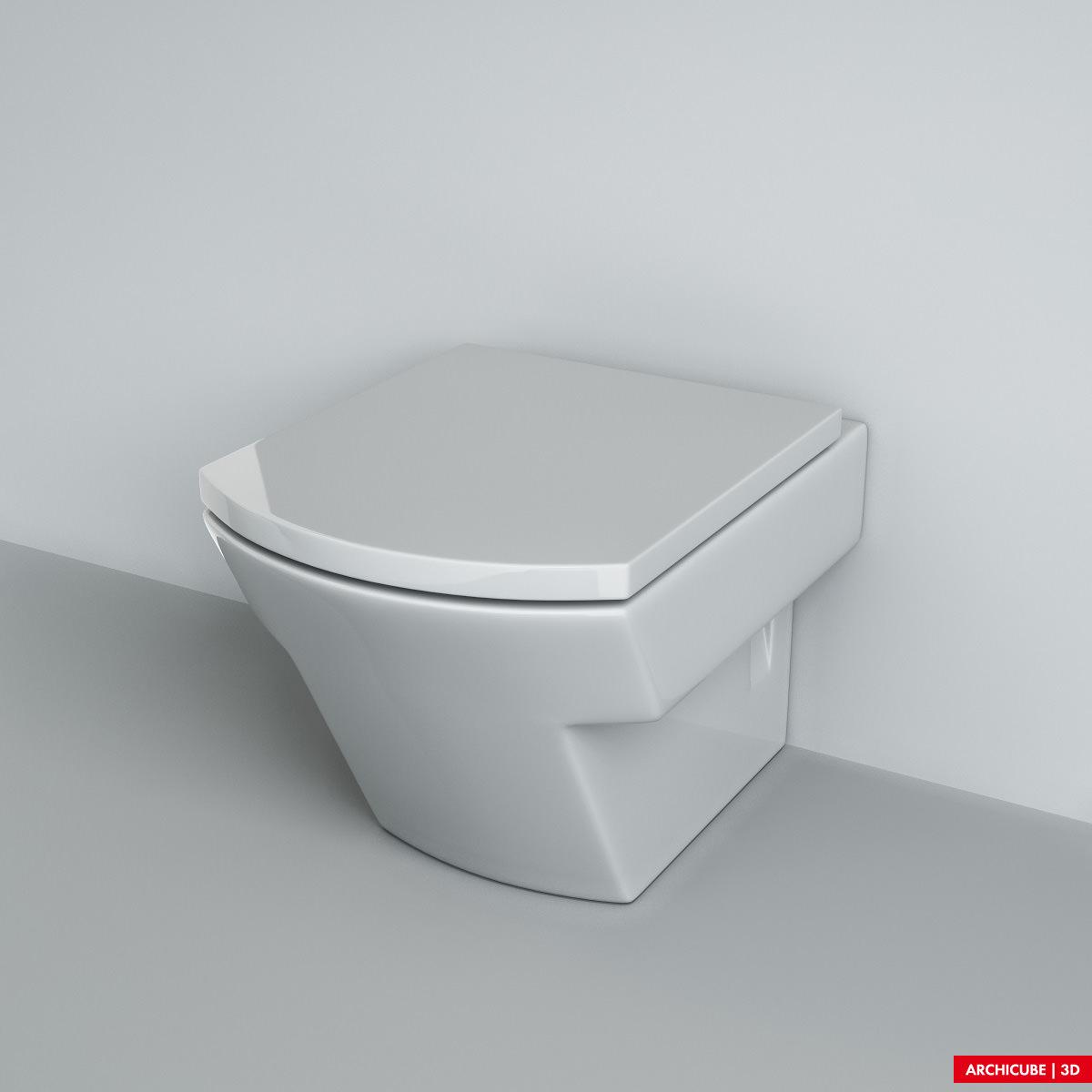 Wc toilet 3d model max obj fbx - Wc model ...