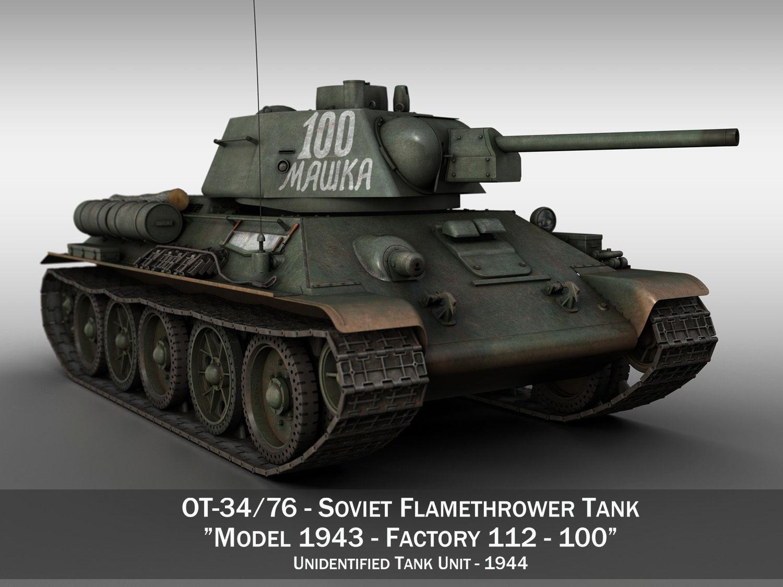 OT-34-76 - Soviet Flamethrower Tank - 100