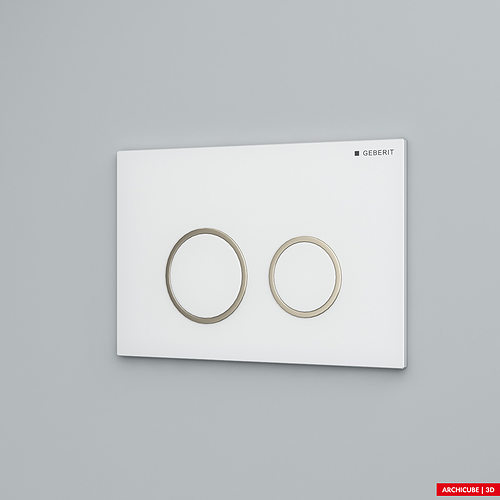 flush panel geberit 3d model max obj mtl fbx 1
