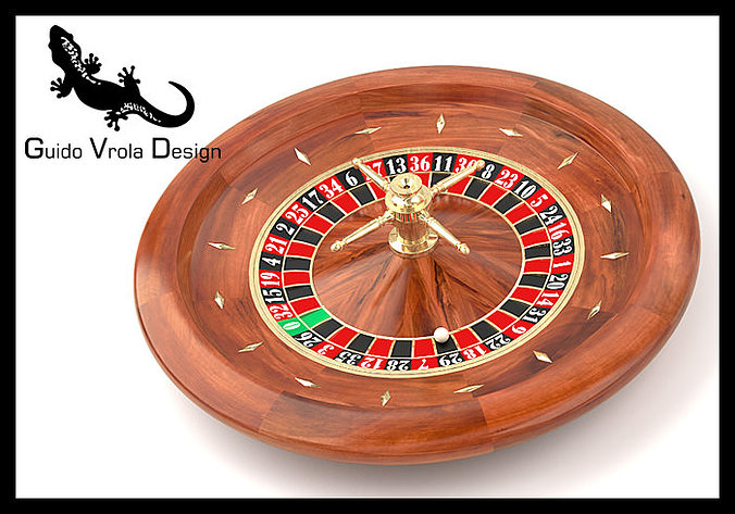 roulette wheel 3d model obj 3ds fbx blend mtl 1