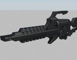 3d model gauss rifle