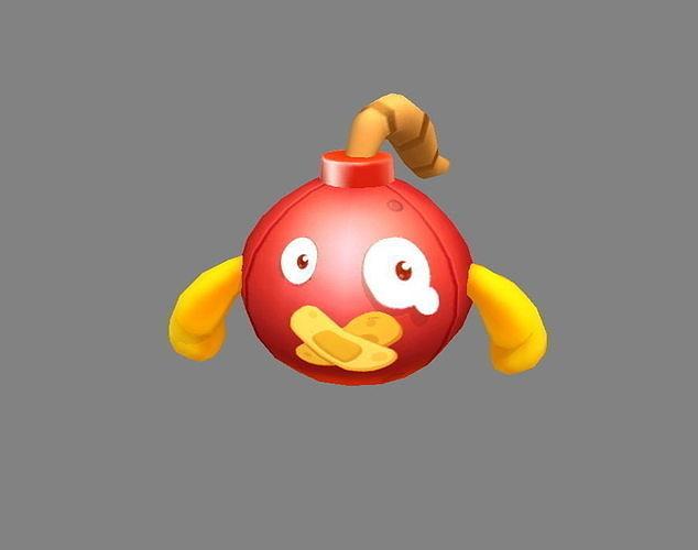 Cartoon grenade bomb