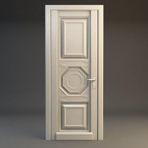 wooden door 3d model max 3ds fbx 1 ... & 3D Wooden Door | CGTrader