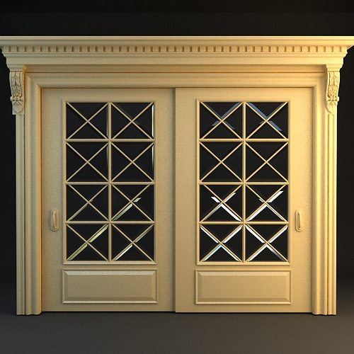 wide double door 3d model max 3ds 1
