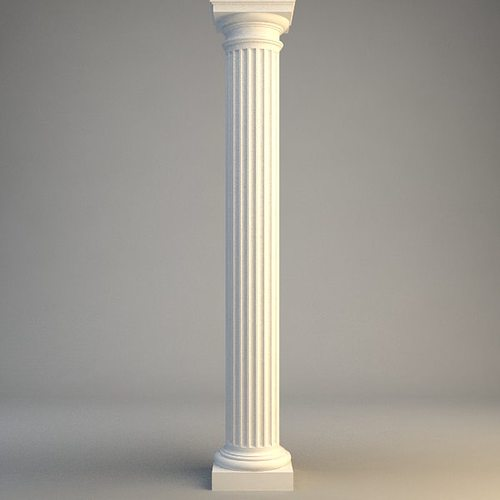 Classical Stone Column 3d Cgtrader
