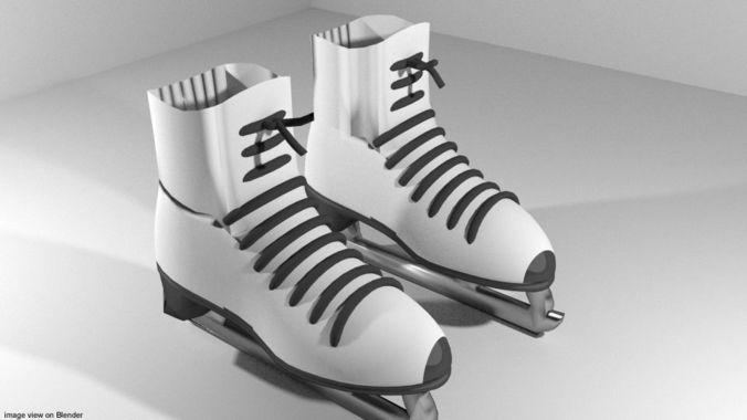 skate - iceskate 3d model obj mtl 3ds lwo lw lws blend dae 1