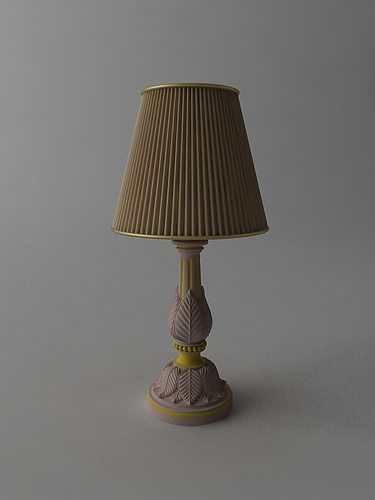 Table lamp 3d model max obj 3ds fbx for Table lamp 3ds max