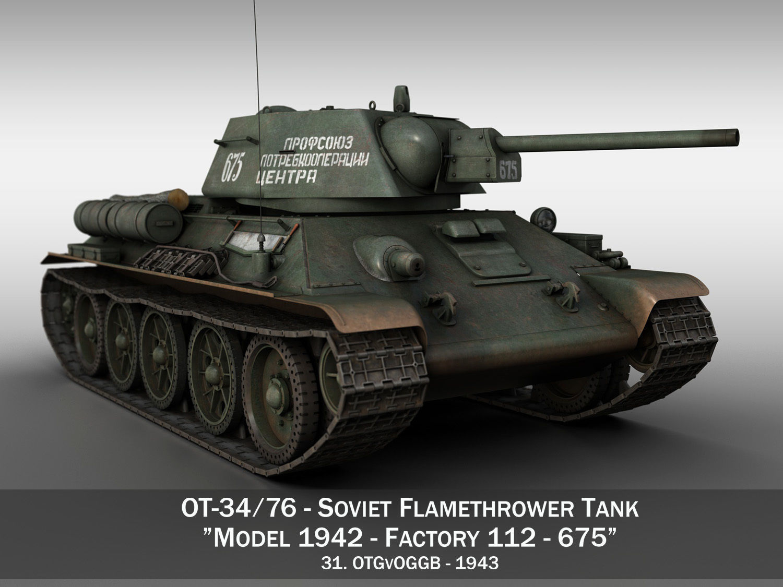 OT-34-76 - Soviet Flamethrower Tank - 675